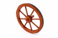 Holzrad Wagenrad Dekorad Holz Wagen Deko Rad 350 mm rot - braun 001
