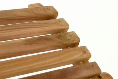 DIVERO Strandliege faltbar Sonnenliege Gartenliege Liege aus Teak Holz Faltliege – Bild 5