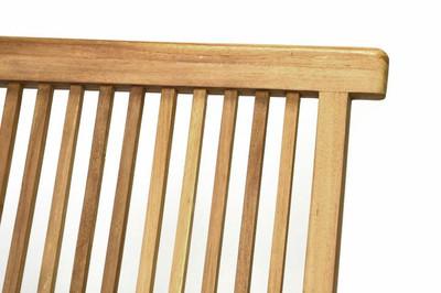 DIVERO Stuhl Teak Holz klappbar massiv Holzstuhl Gartenstuhl Teakstuhl – Bild 5