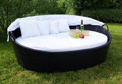 Exclusive Sonneninsel aus Polyrattan - Lounge – Bild 2
