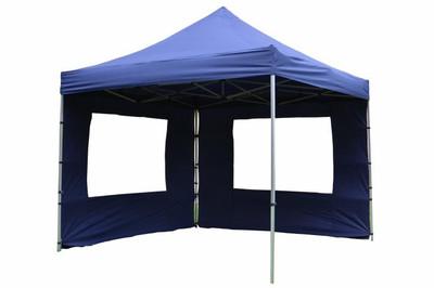 Falt Pavillon 3x3m blau 4 Seitenteile PROFI Ausführung wasserdichtes Dach
