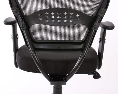Profi-Bürostuhl Seattle, Chefsessel Drehstuhl, 150kg belastbar, Textil ~ schwarz mit Armlehnen – Bild 2