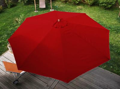 Holz-Sonnenschirm Gartenschirm Marktschirm Florida, 3,5m ~ bordeaux – Bild 6