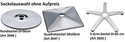Coiffeurstuhl ASSISI (PVC 39 schwarz+175-2 creme) – Bild 3