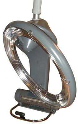 Infrarot Haartrockenhaube mit Wandarm 1300W, silbergrau – Bild 3