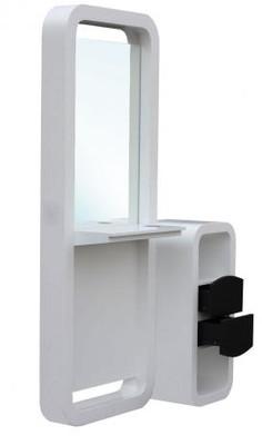Spiegel VIGO einseitig weiss-schwarz, Schränkchen weiss-schwarz – Bild 1