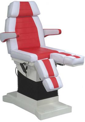 Luxus-Fusspflegestuhl elektrisch in weiss - rot