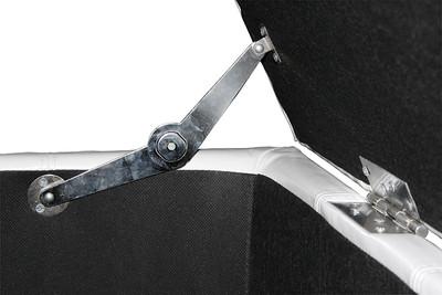 Aufbewahrungs-Truhe Sitzbank Kriens, Leder + Kunstleder, 112x45x45cm ~ weiss – Bild 4