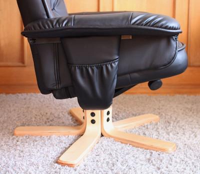 Relaxsessel Fernsehsessel Sessel mit Hocker M56 Kunstleder ~ schwarz – Bild 6