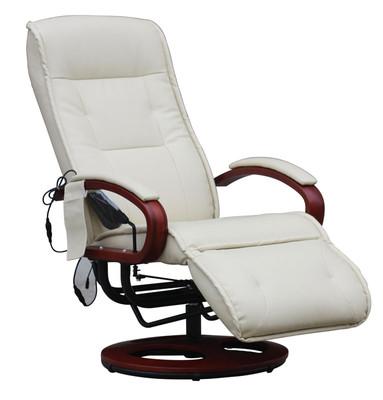 Relaxliege Relaxsessel ARLES II MIT Massage ~ Leder, creme – Bild 1