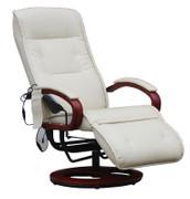 Relaxliege Relaxsessel ARLES II MIT Massage ~ Leder, creme 001