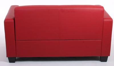 2er Sofa Couch Lyon Loungesofa Kunstleder ~ rot – Bild 7