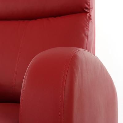 Fernsehsessel Relaxsessel Liege Sessel Denver, Kunstleder ~ rot – Bild 6