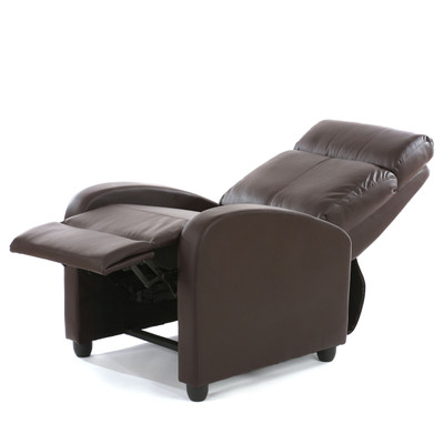 Fernsehsessel Relaxsessel Liege Sessel Denver, Kunstleder ~ braun – Bild 4
