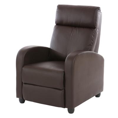 Fernsehsessel Relaxsessel Liege Sessel Denver, Kunstleder ~ braun – Bild 1