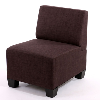 Modular Sessel ohne Armlehnen, Mittelteil Lyon Textil ~ braun – Bild 2