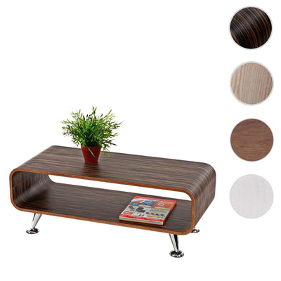 Couchtisch HWC-B97, Loungetisch Club Tisch, 34x90x39cm ~ Zebra dunkelbraun – Bild 6