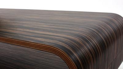 Couchtisch HWC-B97, Loungetisch Club Tisch, 34x90x39cm ~ Zebra dunkelbraun – Bild 4
