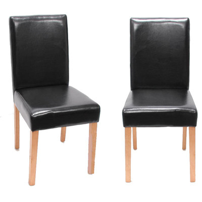 4x Esszimmerstuhl Stuhl Lehnstuhl Littau ~ Kunstleder, schwarz helle Beine – Bild 2