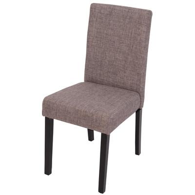 4x Esszimmerstuhl Stuhl Lehnstuhl Littau ~ Textil, grau, dunkle Beine – Bild 2