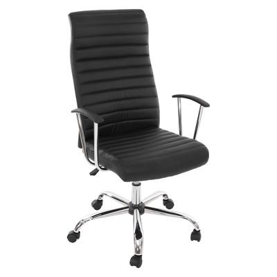 Bürostuhl Drehstuhl Chefsessel Cagliari, ergonomische Form ~ schwarz