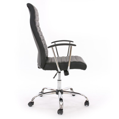 Bürostuhl Drehstuhl Chefsessel Cagliari, ergonomische Form ~ schwarz – Bild 2