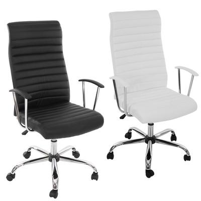 Bürostuhl Drehstuhl Chefsessel Cagliari, ergonomische Form ~ weiss – Bild 5