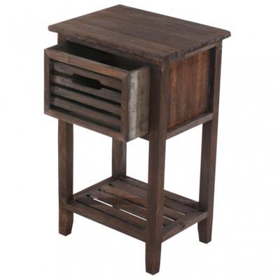 Kommode Beistelltisch Telefontisch, 57x35x27cm, Shabby-Look, Vintage ~ braun – Bild 1