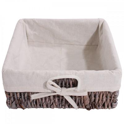 Garderobe mit Sitzbank Kommode mit 2 Körben 42x62x33cm, Shabby-Look, Vintage ~ braun – Bild 7