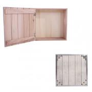2x Teebox Aufbewahrungsbox Sockenbox Schmuckkästchen 24x24x10 cm, Shabby-Look, Vintage ~ weiss 001