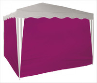 Seitenverkleidung für Faltpavillon 3x3 m | 4 Stück-Bordeaux 001