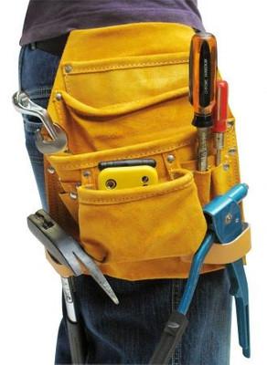Lederwerkzeugtasche für Gürtelbefestigung