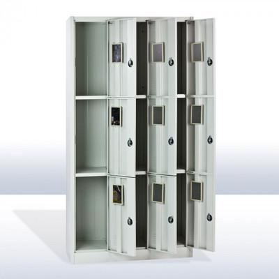 Metall Leichtbau Schliessfachschrank SF9 | 9 Fächer – Bild 2