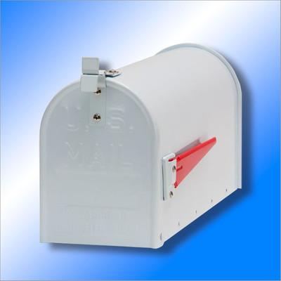 American Mailbox aus Alu, Weiss