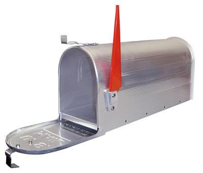 American Mailbox aus Alu, Silber – Bild 2