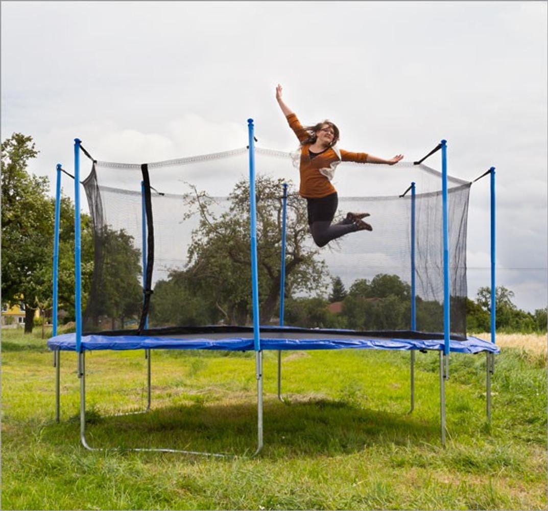 trampolin 360cm mit sicherheitsnetz bei arizondo kaufen. Black Bedroom Furniture Sets. Home Design Ideas