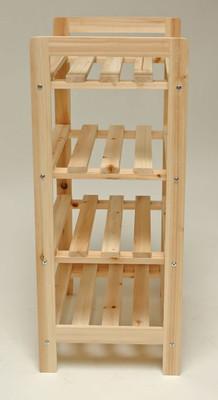 Holzregal 4 Böden 45x33x79cm  – Bild 3