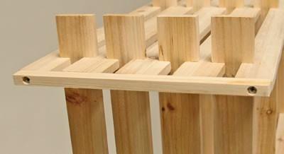 Holzregal 9 Fächer – Bild 4