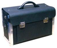 Leder Werkzeugkoffer schwarz 001