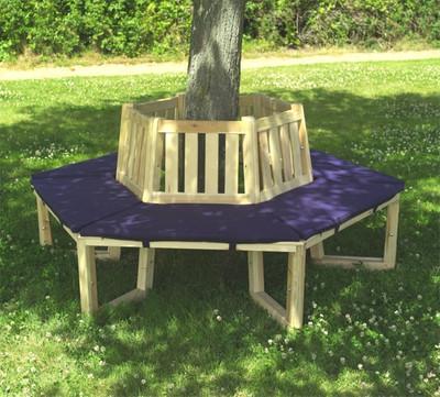Sitzauflagen für 1/2 Baumbank 180°