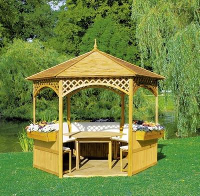 "Pavillon ""Palma"" mit Holzdach"