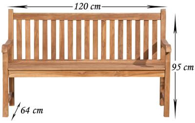 Teakbank Calypso 120 cm – Bild 9
