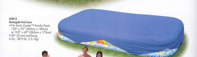 RECTANGULAR POOL COVER (FOR 103'' - 120'' SWIM CENTERSTM) PASSSEND ZU 305 X 183