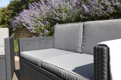 Allibert Monaco Lounge Set mit Kissenbox graphite/cool grey – Bild 4