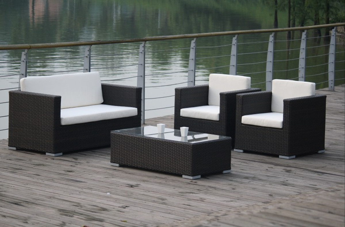 lounge gruppe macau 4 teiliges set gruppe sitzgruppe gartenm bel alu bei arizondo kaufen. Black Bedroom Furniture Sets. Home Design Ideas