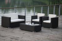 Lounge Gruppe MACAU, 4 teiliges Set Gruppe Sitzgruppe Gartenmöbel Alu! 001