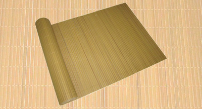 Sicht- u. Windschutz PVC 90x500cm Bambus