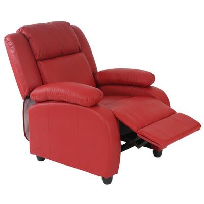 Fernsehsessel Relaxsessel Liege Sessel Lincoln, Kunstleder ~ rot – Bild 2