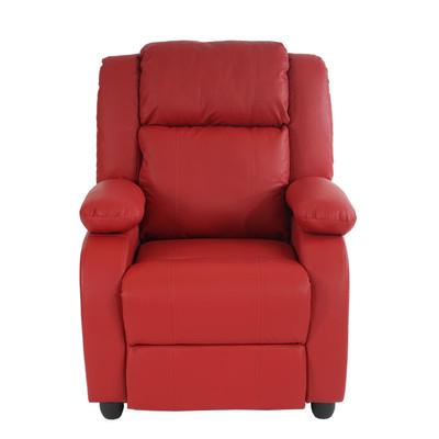 Fernsehsessel Relaxsessel Liege Sessel Lincoln, Kunstleder ~ rot – Bild 3