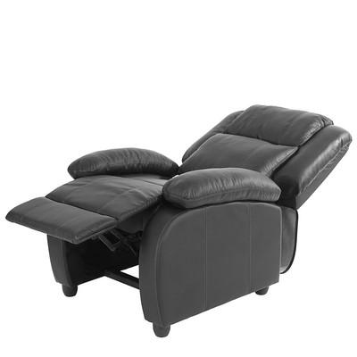 Fernsehsessel Relaxsessel Liege Sessel Lincoln, Kunstleder ~ schwarz – Bild 4
